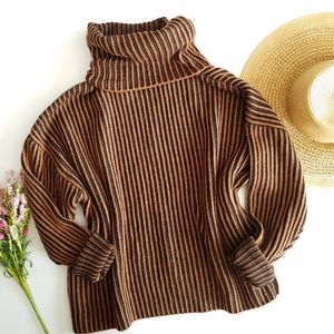 Zara | Chunky Knit Turtleneck Ribbed Sweater Small